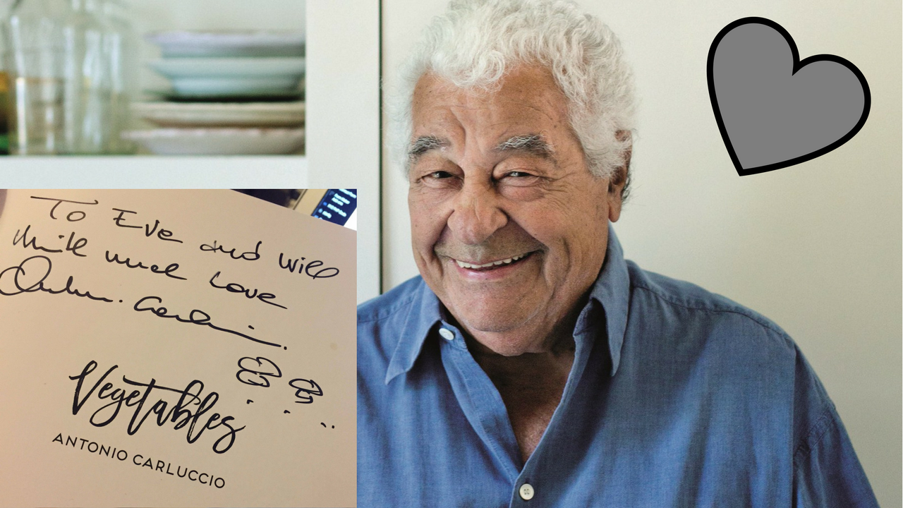 I MET ANTONIO CARLUCCIO AND HE WAS AN ABSOLUTE G